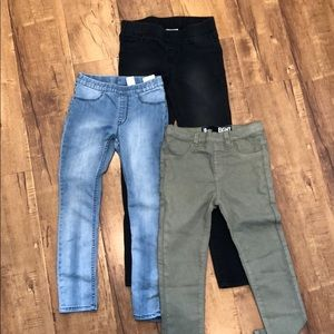 Lot of 3 jeggings size 7-8y